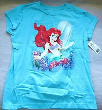 Disney THE LITTLE MERMAID Ariel VACA Graphic T-Shirt TOP Girls Sizes XS-L NWT