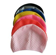 New waterproof ear silicone swimming cap / swim hat adult men and women