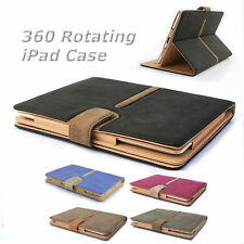 iPad Suede Leather Style Smart Case Cover Auto Sleep Wake For Apple iPad