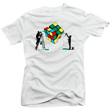 Banksy Rubiks Cube Spray Paint Stencil Urban Satire Street Art Graffiti T-shirt