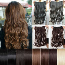 UK Any Colours 3/4 Full Head Weft Clip in Hair Extensions women choice O BEAUTY