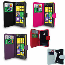 Flip Leather Wallet Case Cover Pouch For Various Nokia ASHA Mobile Phones