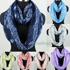 Stylish Women's Chinese Style Porcelain Long Scarf/Infinity Loop Cowl Scarf