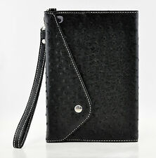 iPad Mini 3 2 1st Ostrich PU Leather Carry Strap Handbag Case Smart Cover