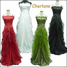 Cherlone Satin Ball Gown Lace Long Wedding/Evening Prom Formal Bridesmaid Dress