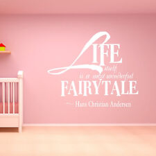 Hans Christian Anderson Wall Sticker Life Itself Is A Most Wonderful Fairytale W