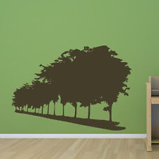 Long Row Of Trees Wall Sticker Nature Wall Decal Art