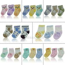 3pairs  girls / boys baby newborn socks cotton cute sock Ratail Free shipping