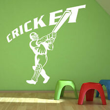 Cricket Batter Wall Sticker Sport Wall Decal Art
