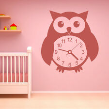 Owl Clock Decorative Wall Decal Art Stickers Wall Decal