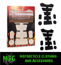 DIABLO MOTORCYCLE MOTORBIKE TANK PROTECTOR PADS WITH STRIPS & DOTS - SALE