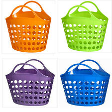 Flexible Multi Purpose Handy Peg Storage Basket With Carry Handle Large New
