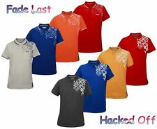 Men's Cross Hatch Branded Casual Printed Collar Pique Polo PK T Shirt Top