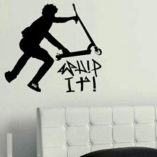 LARGE WALL STICKER STUNT SCOOTER TRICK WHIP IT  POSTER  POSTED FROM UK  SAME DAY