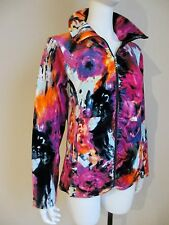 NWT ONQUE sz LARGE VELOUR WARM UP JACKET Ruched FLATTERING SILHOUETTE ZIP UP