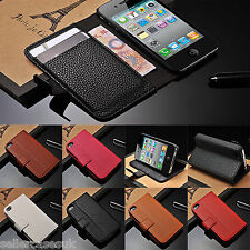 Portefeuille cuir Flip Stand Housse pour Smartphone iPhone 5S 5