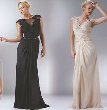 2 COLOR FORMAL OCCASION MOTHER OF BRIDE / GROOM CLASSY EVENING LONG DRESS S-4XL