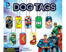 DC COMIC DOG TAGS KEY CHAINS NECKLACES ** YOU PICK * OFFICIALLY LICENSED PRODUCT