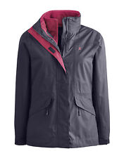 Just Joules 3 in 1 WATERPROOF JACKET - Ladies 10 to 18 Navy with Pink