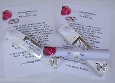 Wedding Scroll, Wedding Gifts, Wedding Favours, Husband & Wife To Be Gifts