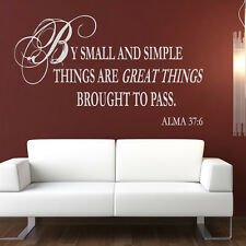 By Small And Simple Things Wall Sticker Religious Wall Decal Art