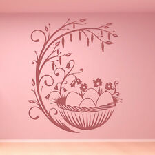 Easter Eggs And Branch Wall Sticker Easter Wall Decal Art