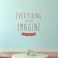Everything You Can Imagine Is Real Wall Sticker Quote Wall Decal Art