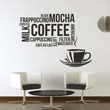 Coffee Cup Wall Sticker Coffee Wall Decal Art