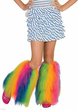 80's Child Fluffies Leg Warmers Furry Fluffy Rave Covers Costume Accessory Cute