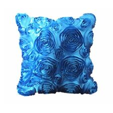 42x42CM Rose Flower Satin Couch Cushion Cover Home Decor Sofa Throw Pillow Case