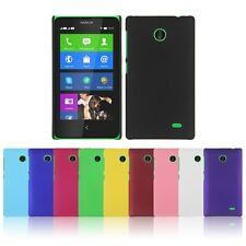 Hard Plastic Case Cover Skin For Nokia X Dual Sim Black RM980 A110