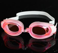 NON-FOGGING ADJUSTABLE SWIMMING GOGGLES GLASSES UV PROTECTION+nose clip+earplugs