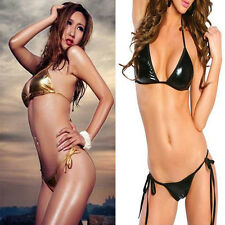 Sexy Womens Lady Coat Of Paint 4Colors Bikini Underwear Split Bra Set Party