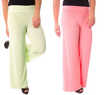 Sexy New Fashion Trend Palazzo Pants Wide Leg Flare Solid Colors Yoga Big