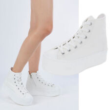 New Women's Platform Zipper Sneakers Heel High Top Fashion Sneakers Shoes
