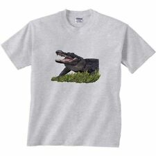 Alligator T-Shirt Gator In Grass Mouth Wide Open Clearance