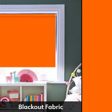 Action Orange Blackout Thermal Roller Blinds - Made To Measure To Suit Any Size!