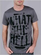 ABBEY DAWN WHAT THE HELL GREY WITH BLACK TEE / T-SHIRT / TOP (B8C)