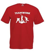 TEAM WORK MMA tee GYM workout NEW Mens Womens T SHIRT TOP size 8-16 s m l xl xxl