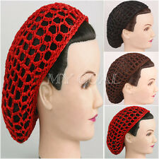 Crochet Hair Net : Black Soft Rayon Snood Hair Net Crocheted Hair Net