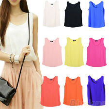 Womens Summer Fashion Chiffon Sleeveless Shirt Vest Tank Tops Blouse B94U
