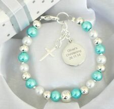 Boys Girls Personalised Engraved Name Bracelet Christening/First Holy Communion