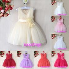 GIRLS Flower/Formal/Bridesmaid/Party/Princess/Prom/Wedding/Christening Dress(D7)