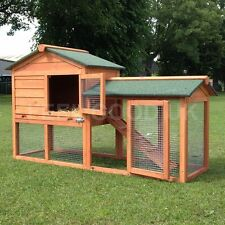 RABBIT GUINEA PIG HUTCH HUTCHES RUN RUNS LARGE 2 TIER DOUBLE LODGE FERRET NEW +