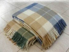 FINE HOME 100% MERINO WOOL BLANKET THROW Comfort NEW 140x200cm (55x79 inches)