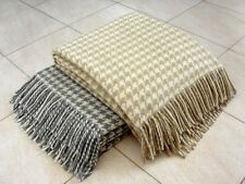 FINE HOME 100% MERINO WOOL BLANKET THROW Houndstooth NEW 140x200cm & 170x210cm