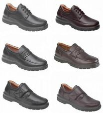 Mens Wide Fit Light Weight Slip On Velcro Lace Up Shoes