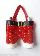 SANTA'S TROUSERS - Bottle - Wine - Gift Bag - Red - Novelty Christmas