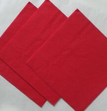 50 Red 3 ply Paper Napkins 40cm Many Colours Wedding Birthday