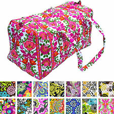Vera Bradley Large Duffle Bag Soft Wall Collapsible Zip Closure Many Colors New